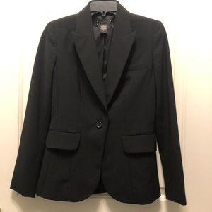 Black One Button Blazer Suit Jacket 0